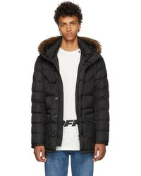 Moncler Black Cluny Down Coat