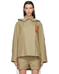 Loewe Beige Military Hooded Jacket - Natural
