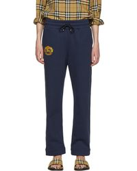 Burberry | Navy Crest Lounge Pants | Lyst