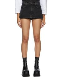 Pushbutton Ssense Exclusive Miniskirt Shorts - Black