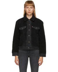 Levi's Black Sherpa Ex-boyfriend Trucker Jacket