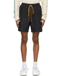 Rhude Ssense Exclusive Logo Shorts - Black