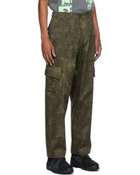 Paria Farzaneh Khaki Print Army Cargo Pants - Green