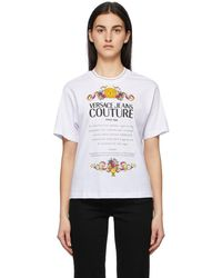 Versace Jeans Couture - ホワイト Warranty Label T シャツ - Lyst