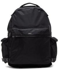 Juun.J Black Nylon Multi-pocket Backpack