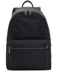 Dolce & Gabbana - Black Logo Backpack - Lyst