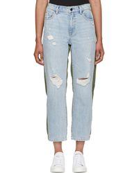 Alexander Wang - Blue And Green Slack Mix Jeans - Lyst