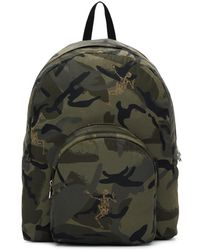 Alexander McQueen - Green Small Dancing Skeletons Camouflage Backpack - Lyst