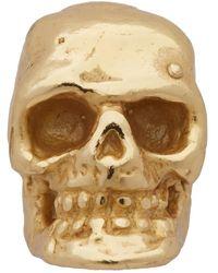Emanuele Bicocchi Boucle doreille doree Tiny Skull - Métallisé