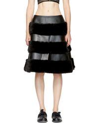 Noir Kei Ninomiya - Black Faux-leather Skirt - Lyst