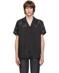 Goodfight Black Graph Mountain Short Sleeve Shirt
