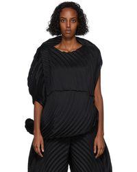 Issey Miyake ブラック Monochrome Planet ドレス