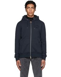 Dunhill Navy Circle D Hoodie - Blue