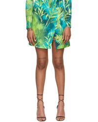 Versace - グリーン ジャングル スカート - Lyst