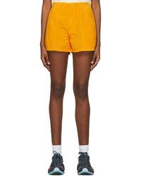 ERL Corduroy Shorts - Orange