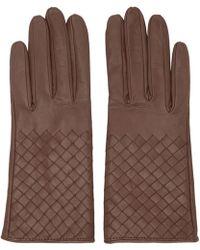 Bottega Veneta - Pink Intrecciato Short Gloves - Lyst