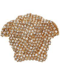 Versace Broche dorée à méduse - Multicolore