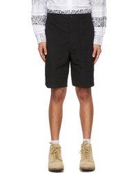 Engineered Garments Enginee Garments Ripstop Fatigue Shorts - Black