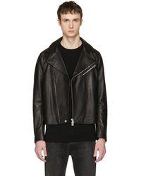 Acne Studios - Black Leather Axl Jacket - Lyst