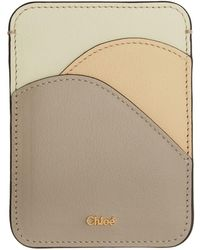 Chloé - Grey And White Walden Card Holder - Lyst
