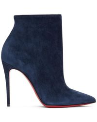 Christian Louboutin Navy So Kate 100 Boots - Blue