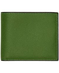 Valextra - Green 6cc Wallet - Lyst