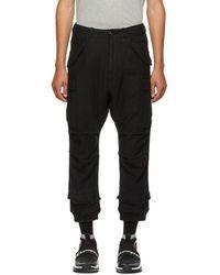 R13 - Black Harem Cargo Trousers - Lyst