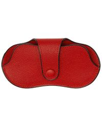 Valextra - Red Leather Glasses Case - Lyst