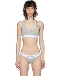 Calvin Klein - グレー And ホワイト Modern ブラレット - Lyst