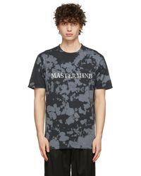 MASTERMIND WORLD - T-shirt noir en coton à motif tie-dye - Lyst