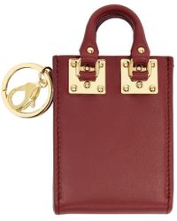 Sophie Hulme - Burgundy Albion Tote Keychain - Lyst