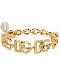Dolce & Gabbana ゴールド Dg マルチロゴ ブレスレット - メタリック