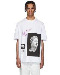 Lanvin ホワイト マルチ グラフィック T シャツ