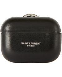 Saint Laurent ブラック ロゴ Airpods Pro ケース