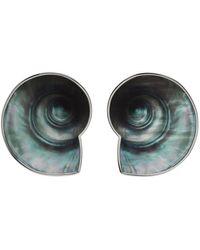 Jean Paul Gaultier Boucles d'oreilles Coquillage argentées édition Martin M'Toumo - Multicolore