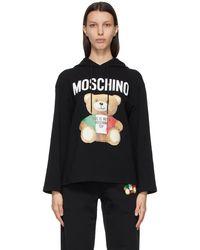 Moschino - ブラック Italian Teddy Bear フーディ - Lyst