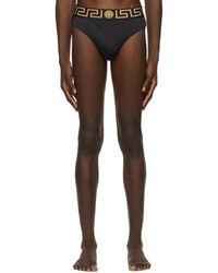 Versace Black Greca Border Swim Briefs