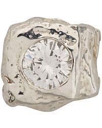 Pearls Before Swine Silver Single Stud Earring - Metallic