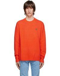 Versace - Orange Cashmere & Silk Sweater - Lyst
