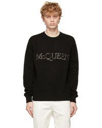 Alexander McQueen ブラック ロゴ スウェットシャツ
