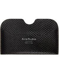 Acne Studios スネーク カード ケース - ブラック