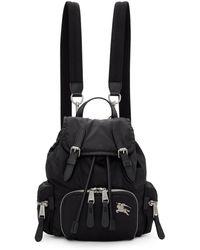 Burberry - Black Small Puffer Crossbody Backpack - Lyst