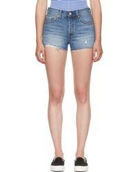 Levi's - Blue Denim 501 Shorts - Lyst