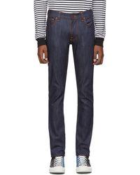 Nudie Jeans インディゴ Thin Finn Dry ジーンズ - ブルー
