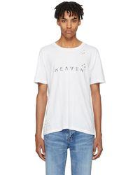Saint Laurent - White Heaven T-shirt - Lyst