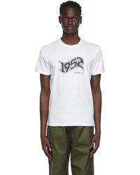 Moncler Genius 2 Moncler 1952 コレクション ホワイト ロゴ T シャツ