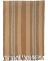 Acne Studios - Brown Striped Canada Scarf - Lyst