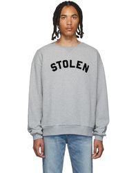 Stolen Girlfriends Club Grey Gun Club Sweatshirt