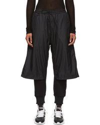 Y-3 - Black Nylon Mix Lounge Pants - Lyst