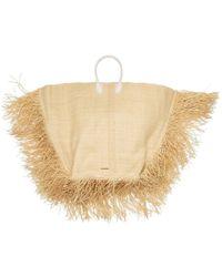 Jacquemus Le Grand Baci Woven Straw Bag - Natural